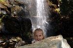 Голова под водопадом